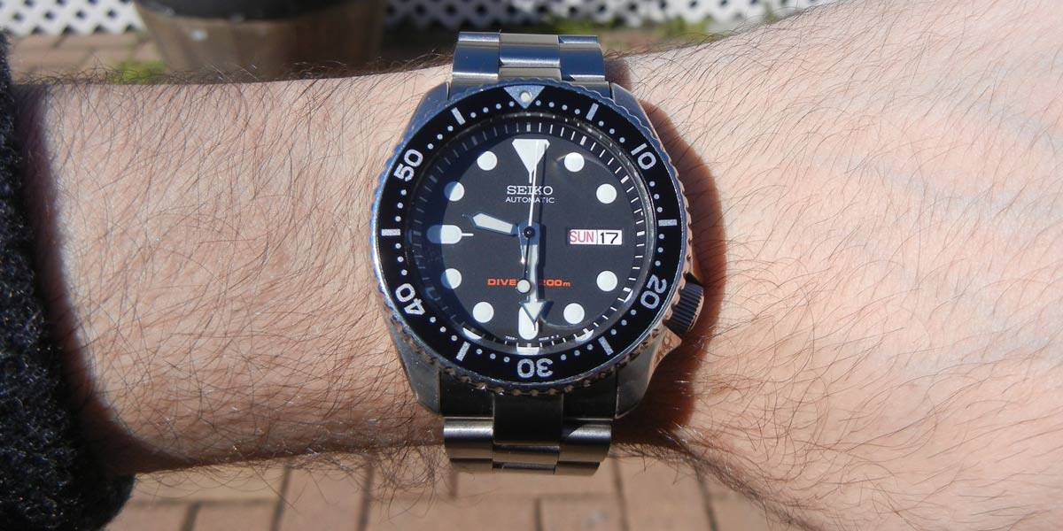 Seiko SKX007 on an Oyster bracelet by Strapcode