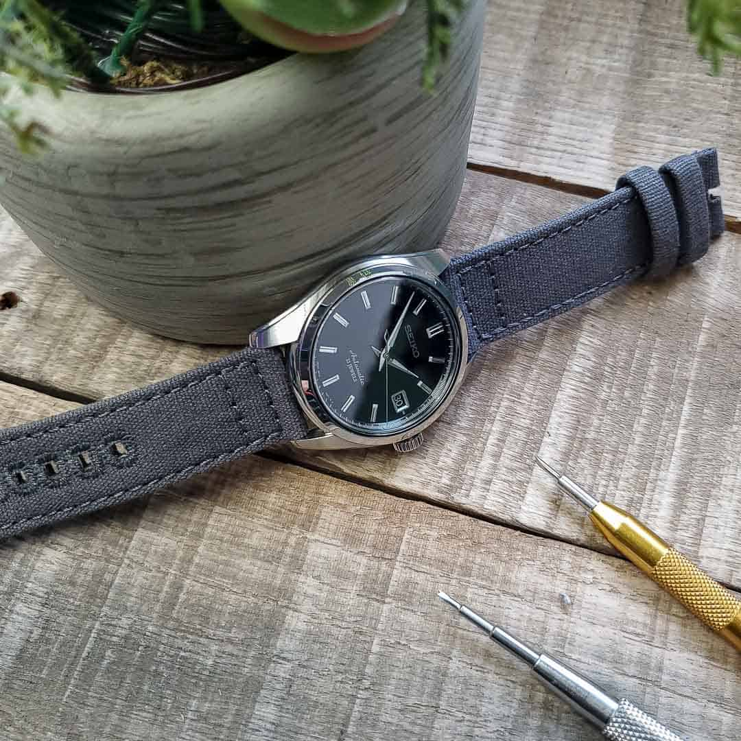 SARB033 on Grey Canvas Barton Bands Strap