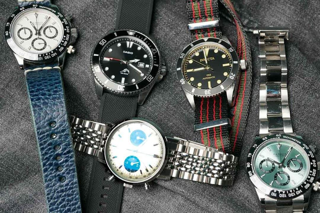 Parnis, Invicta, Casio-and-Dan-Henry-Homage-Watches